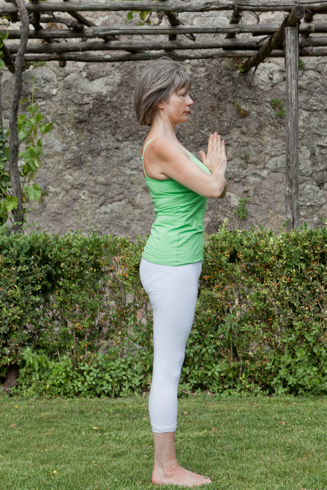 Rose Romani demonstrates the Sun Salutation Sequence