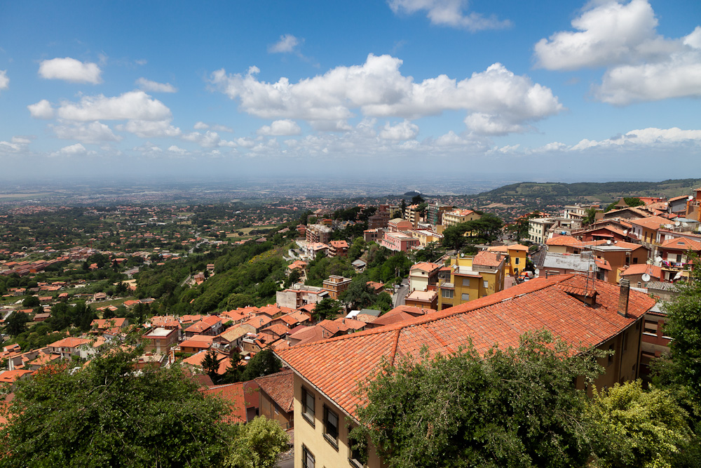 Enjoy panoramic views from the Alban Hills, Italy on Rose's Yoga Holidays