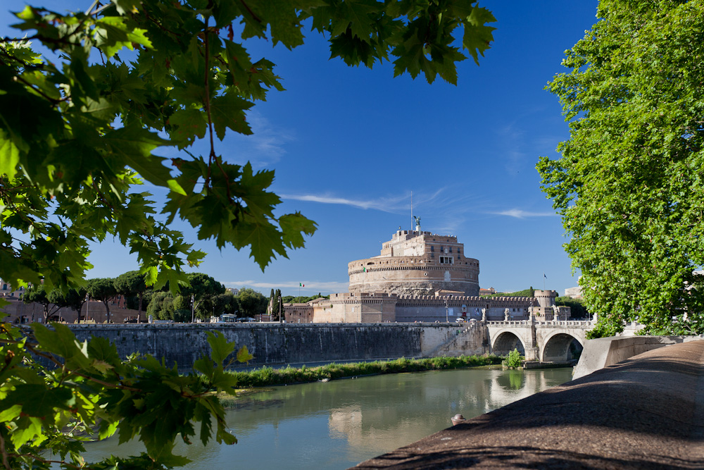 Visit tourist attractions such as Castel Sant'Angelo on Rose's Yoga Holidays