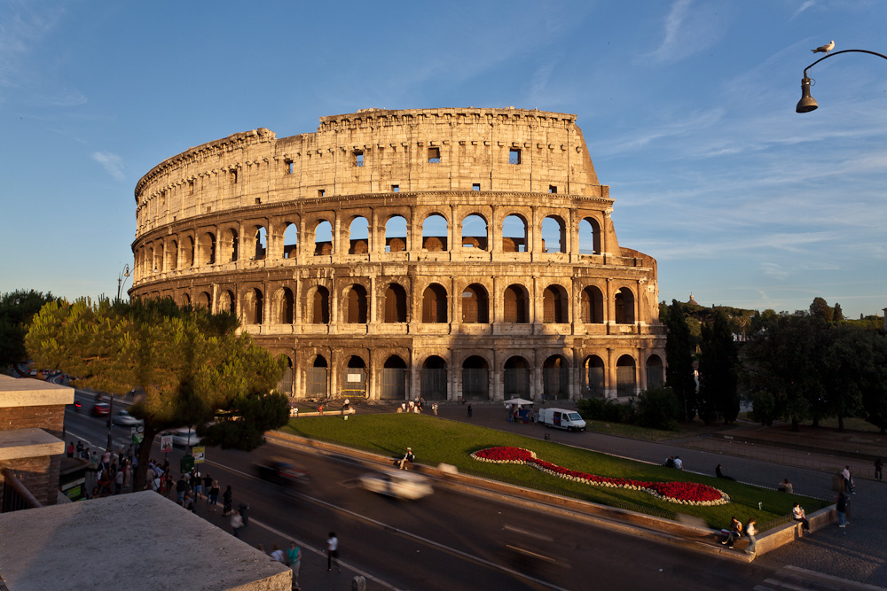 Visit tourist attractions such as The Colusseum on Rose's Yoga Holidays